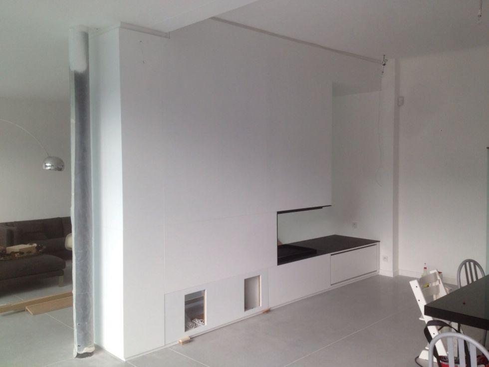 laquage de panneaux blanc satin aix en provence dg peintures. Black Bedroom Furniture Sets. Home Design Ideas